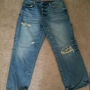 FREE PEOPLE cropped Boyfriend jeans